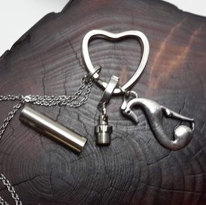 Jewelry - GREYHOUND/WHIPPET HEART URN NECKLACE